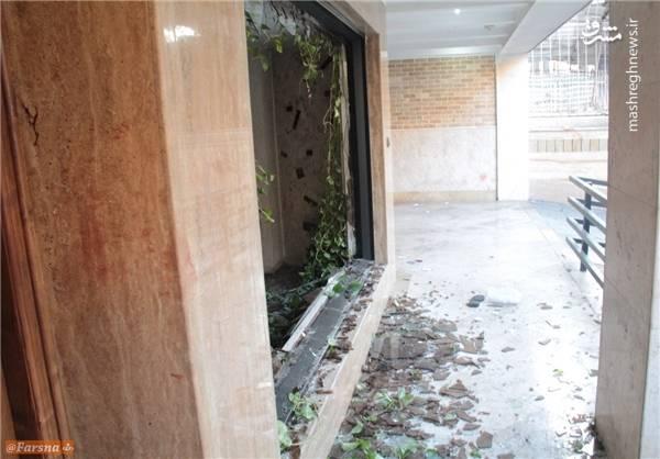 حمله دراویش آشوبگر به منازل مسکونی خیابان پاسداران+عکس