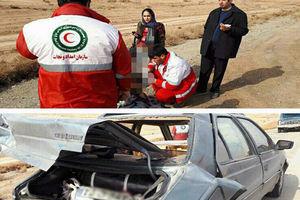تصادف ۳ دستگاه خودرو در اتوبان تهران-قم