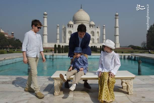 شوخی خطرناک نخست وزیر کانادا با فرزندش+عکس
