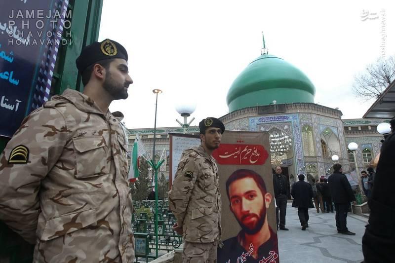 مراسم ختم شهید بسیجی خیابان پاسداران+عکس