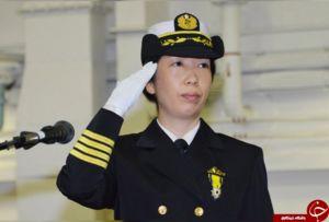 یک زن ژاپنی فرمانده ناو شد +عکس