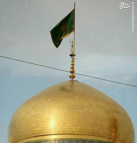 گنبد طلایی امام رضا(ع) بعد از تنظیف+عکس