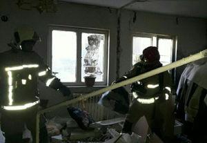 انفجار یک واحد مسکونی در اتوبان تهران- کرج