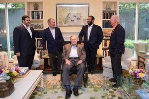دیدار بنسلمان با «بوش» پدر و پسر +عکس
