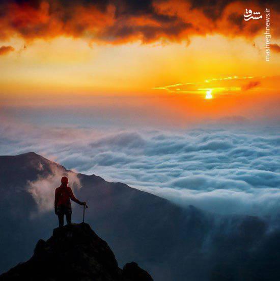 تصویری دیدنی از کوه سنگر اردبیل