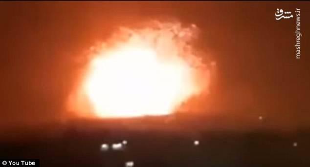 جدیدترین تصاویر از حمله موشکی به سوریه