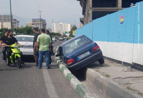 عکس/ حادثه عجیب برای خودروی پراید!