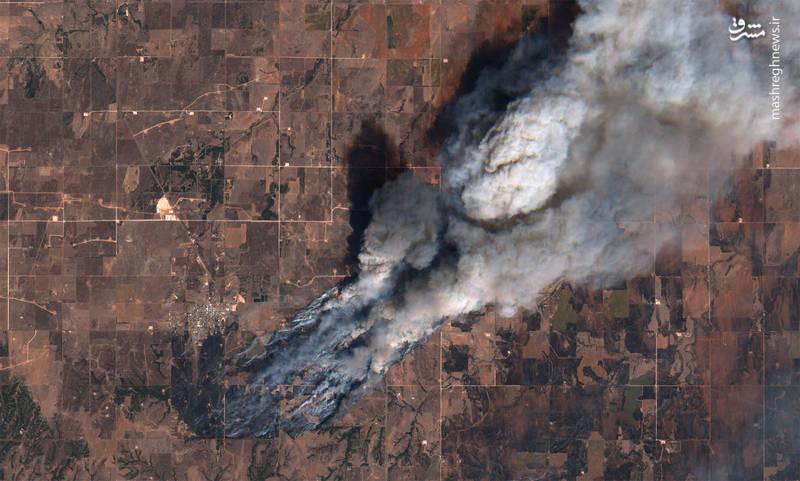 عکس فضایی ناسا از آتش سوزی یک جنگل
