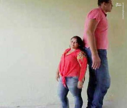 عکس/ ازدواج غول 233 سانتی با دختر 145 سانتی!