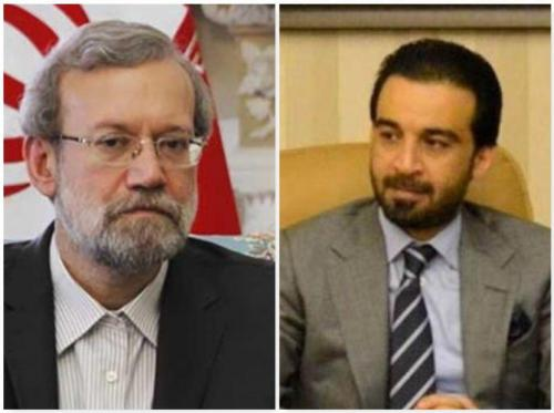لاریجانی با رئیس جدید مجلس نمایندگان عراق گفتگو کرد