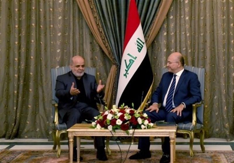 تمجید صالح از نقش ایران در حمایت از عراق