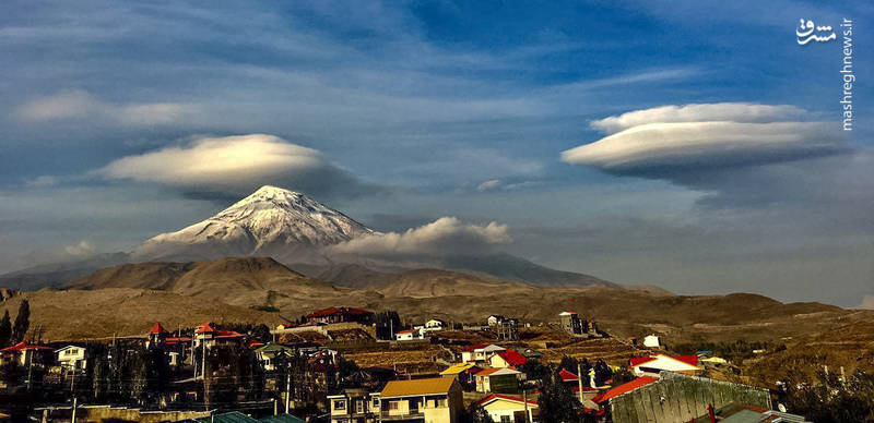 نمایی زیبا از قله دماوند+عکس