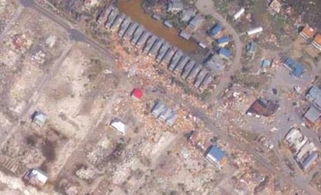 قبل و بعد طوفان در آمریکا+عکس