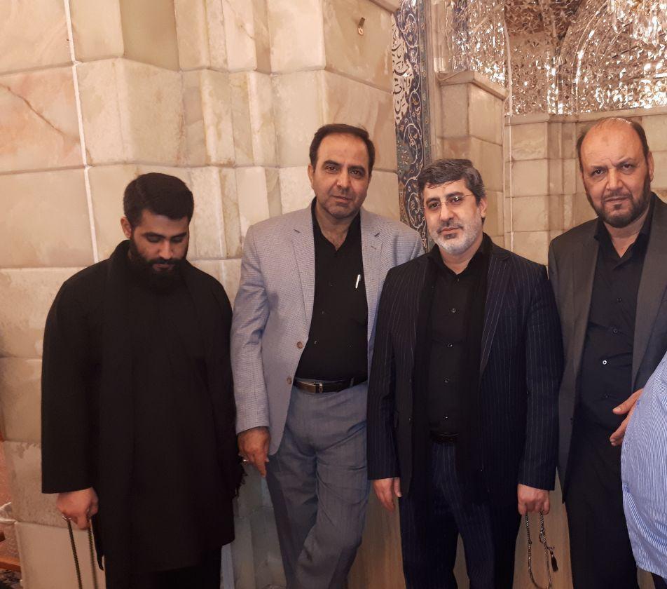 حاج محمد رضا طاهری در حرم حضرت رقیه+عکس