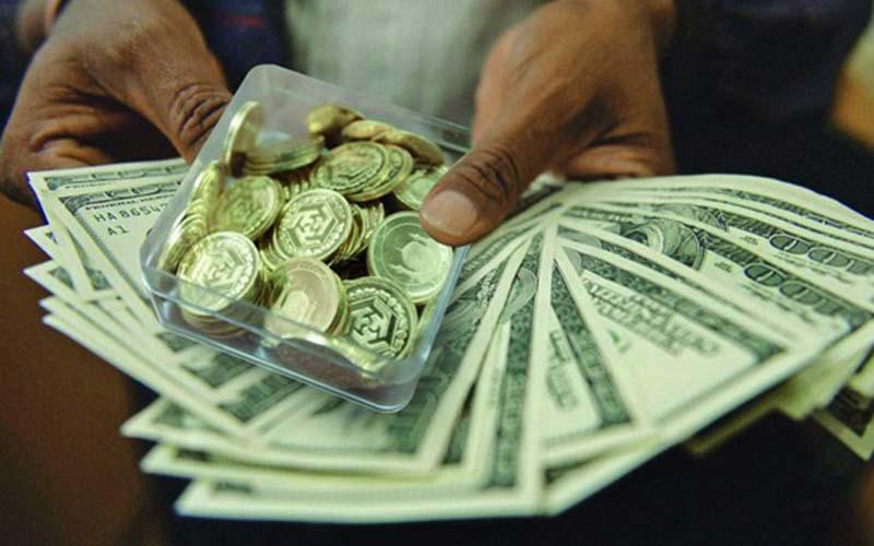 دلار روی مدار 14000، سکه تمام چهار و سیصدهزار تومان