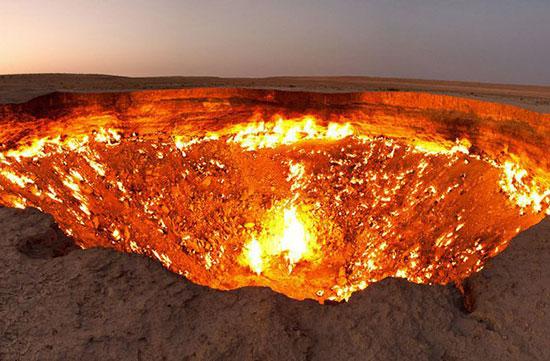 ورودی جهنم بر روی زمین+عکس