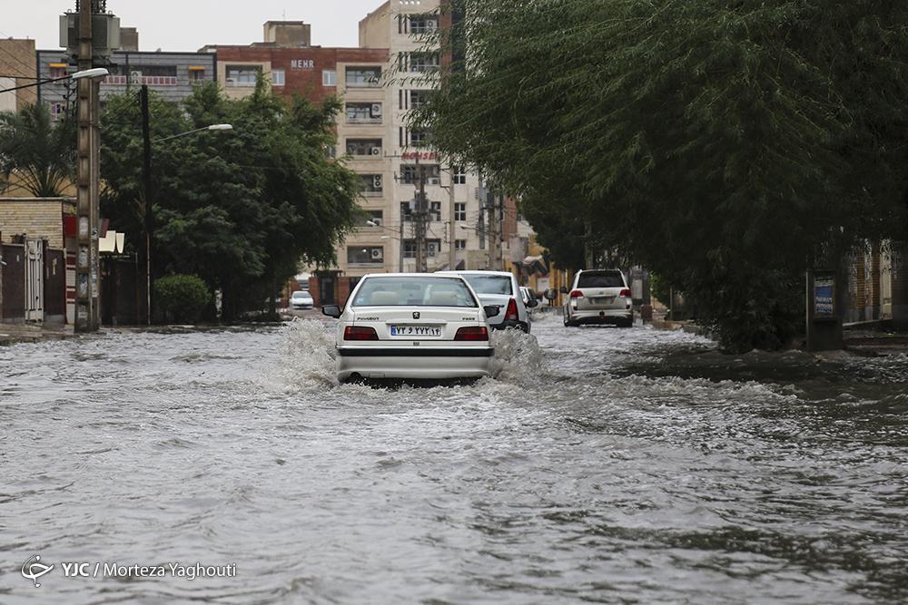 آبگرفتگی شدید در سطح شهر اهواز+عکس