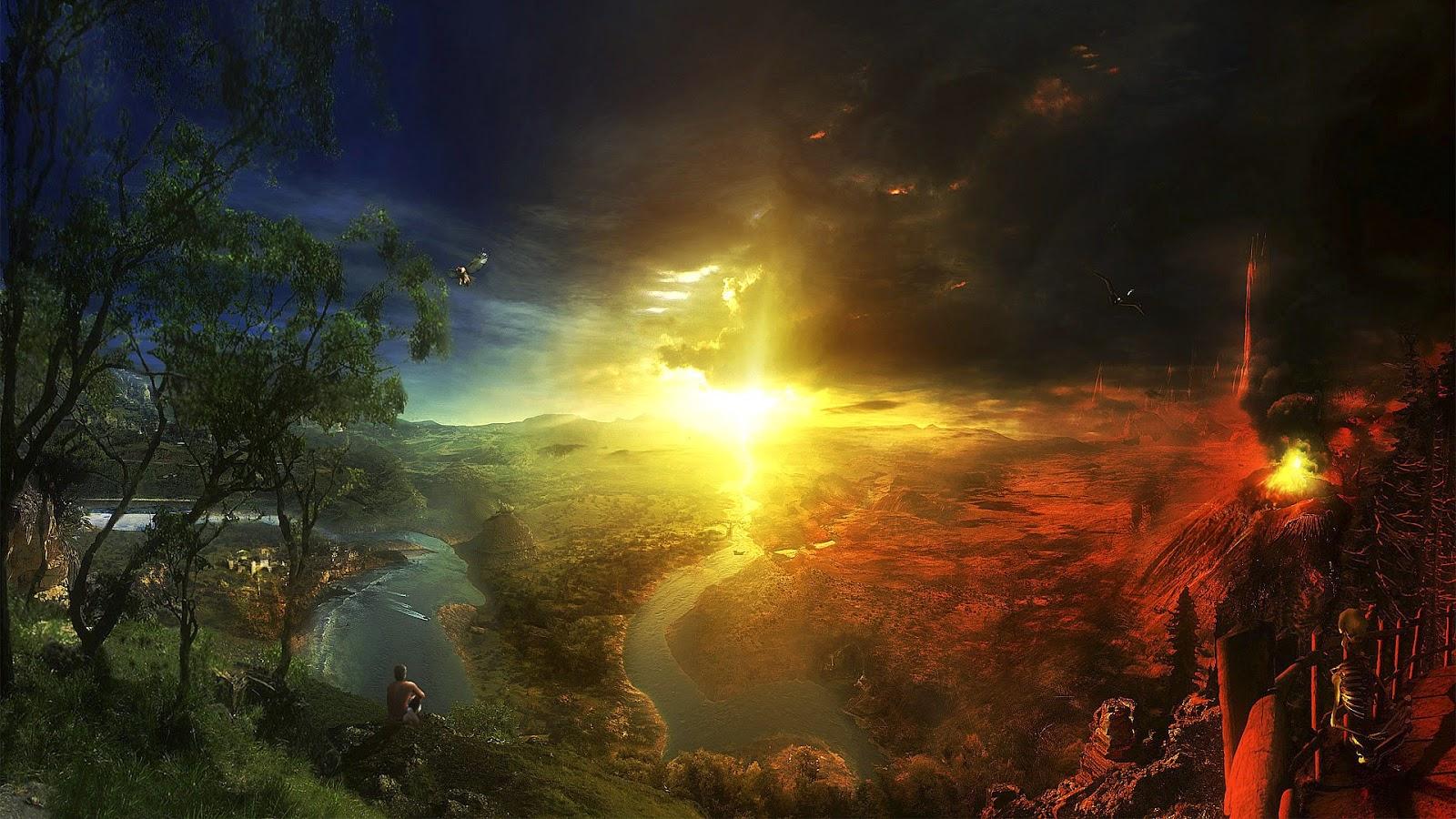 آیا بهشت و جهنم در روز قیامت، بر روی کرهی زمین تشکیل میشوند؟