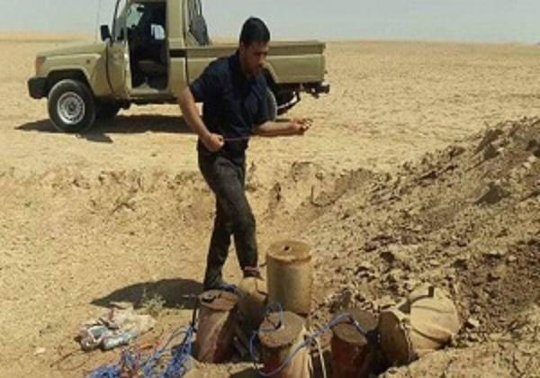کشف یک انبار تسلیحاتی متعلق به تروریستهای داعش در شرق استان الانبار