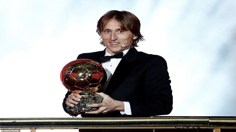لوکا مودریچ برنده جایزه توپ طلا 2018  شد