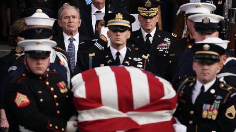 مراسم رسمی ترحیم جورج بوش پدر+عکس
