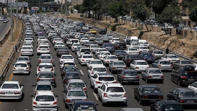 ترافیک سنگین در آزادراه کرج_ تهران