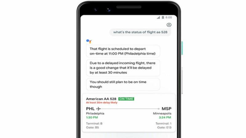 تاخیر پروازها از سوی گوگل اعلام میشود