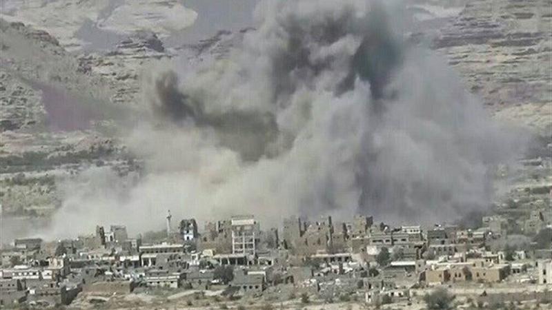 استان صعده یمن توسط عربستان بمباران شد