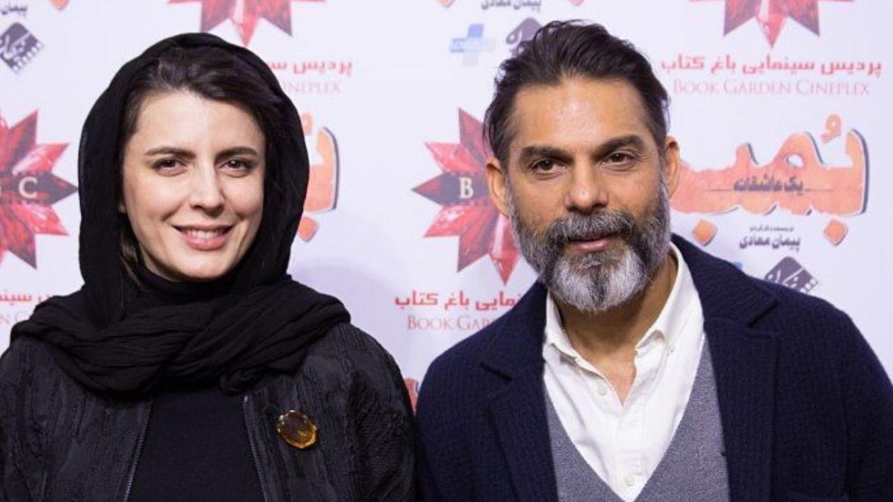 درگوشی حرف زدن کارگردان مرد سینما با لیلا حاتمی+عکس