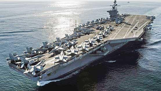 استقرار ناو جنگی آمریکا در نزدیکی سواحل سوریه
