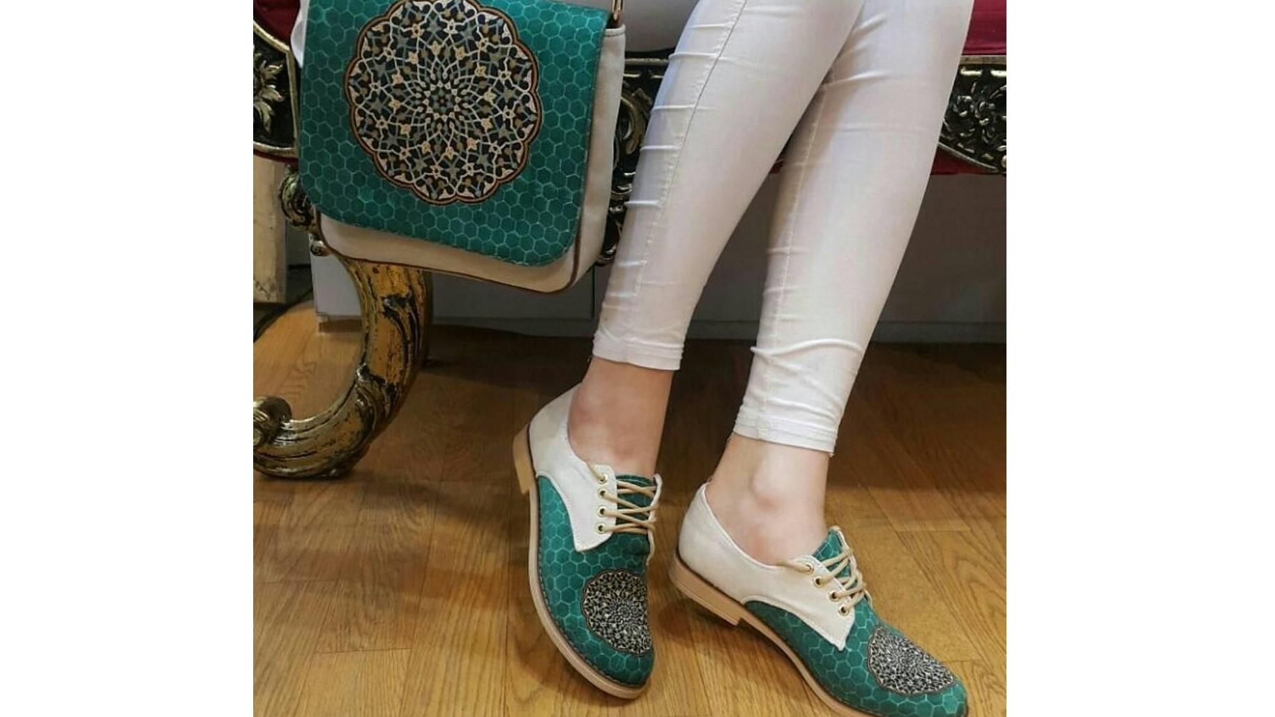ست کیف و کفش زنانه سبز رنگ+عکس