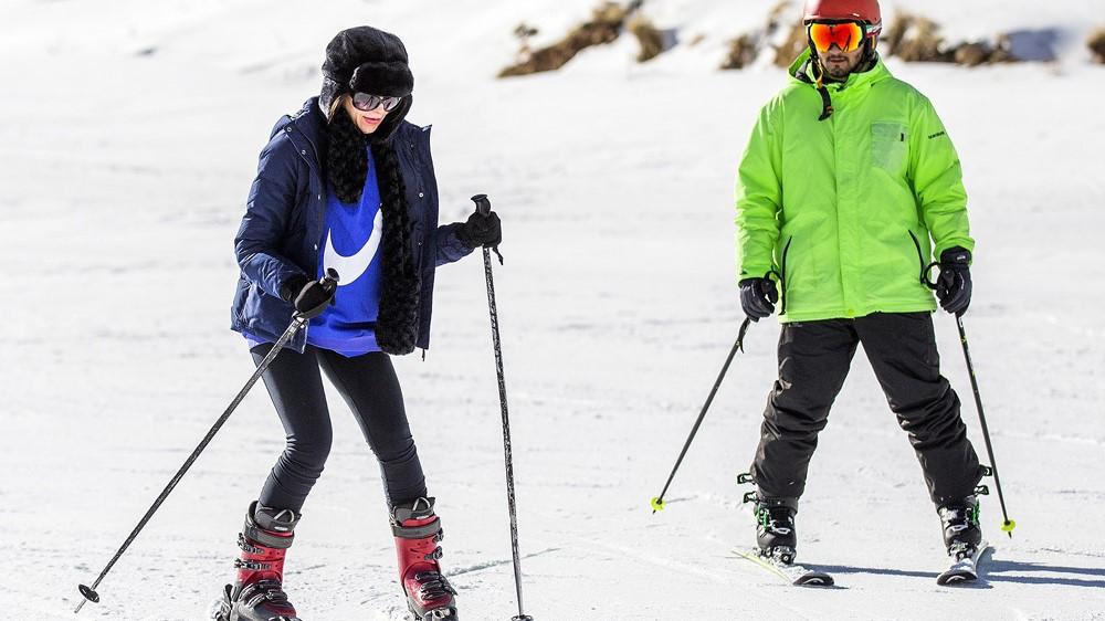 اسکی در ارتفاعات برفی سپیدان - فارس +عکسها