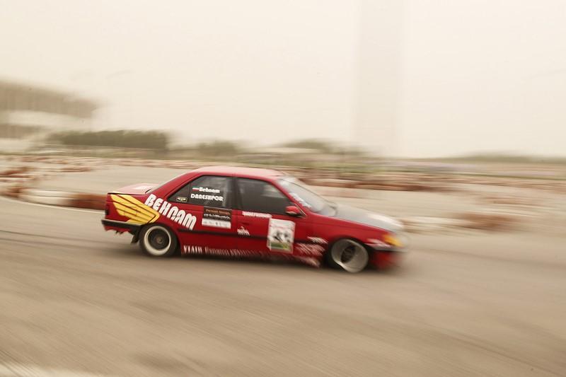 مسابقات اتومبیل رانی اسلالوم قهرمانی کشور در اهواز +عکسها