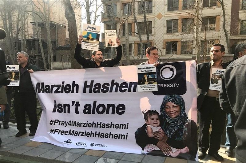 تجمع برای آزادی «مرضیه هاشمی» و استیصال دادگاه آمریکایی در برابر صدای مستندساز ایرانی