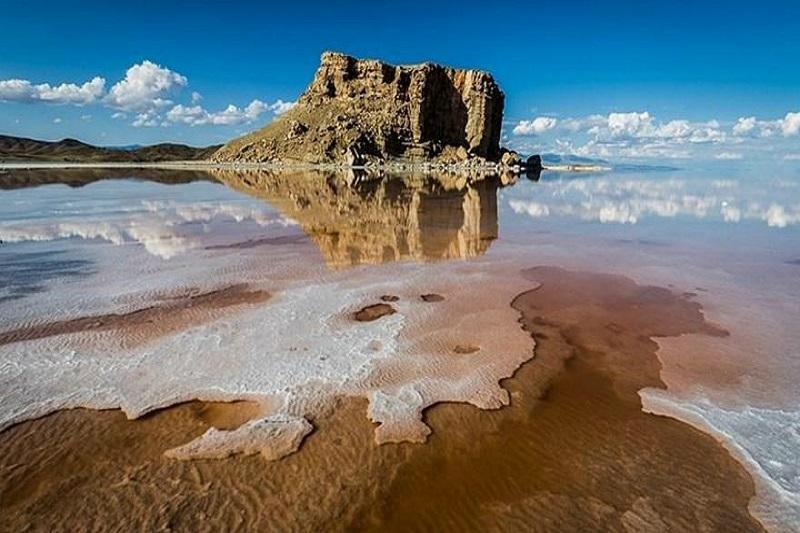وسعت دریاچه ارومیه 378 کیلومتر مربع افرایش یافته است