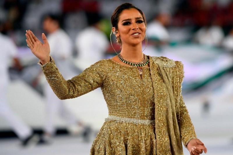 اجرای خواننده زن افتتاحیه جام ملت های آسیا در جشن های جده+عکسها