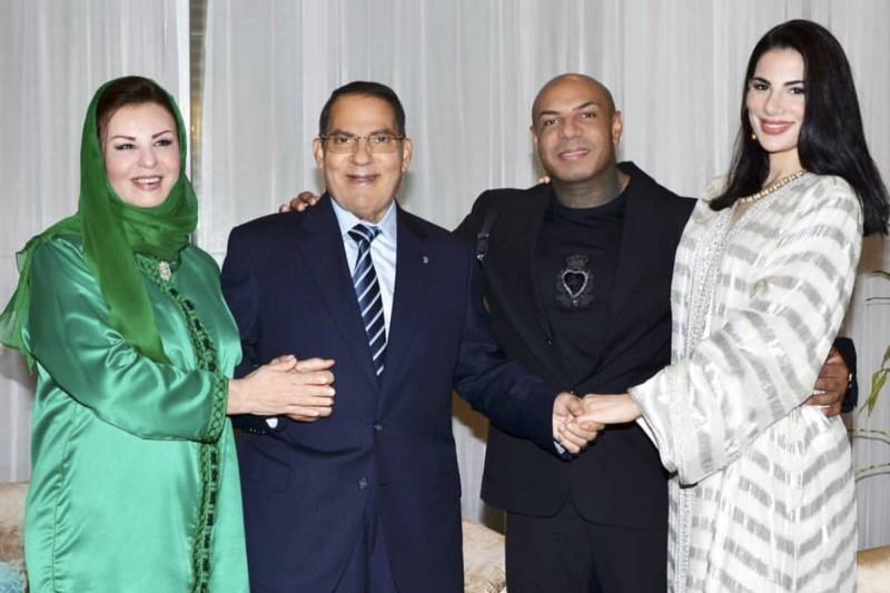 دختر «بن علی-دیکتاتور سابق تونس» با خواننده معروف رپ+عکسها