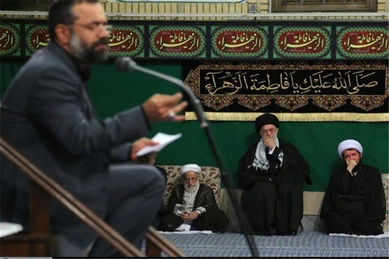 مداحی محمود کریمی  در حسینیه امام خمینی (ره) +صوت