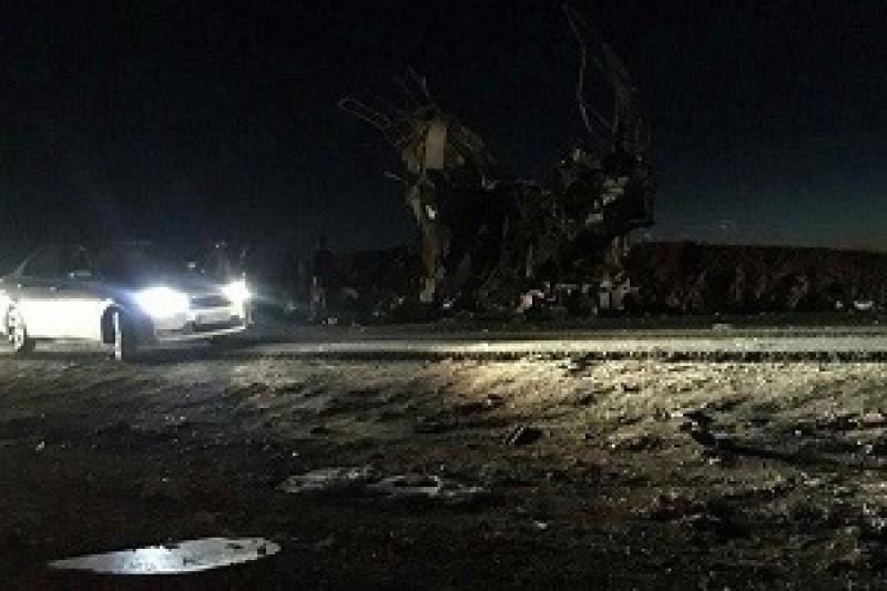 حادثه انتحاری برای اتوبوس کارکنان سپاه در سیستان و بلوچستان + فیلم