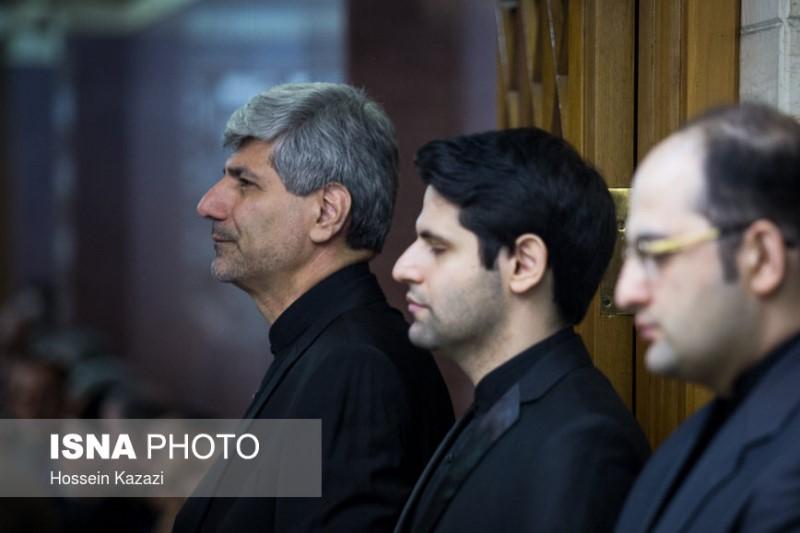 مریم کاویانی در مراسم ختم همسر سخنگو سابق وزارت امور خارجه+عکس