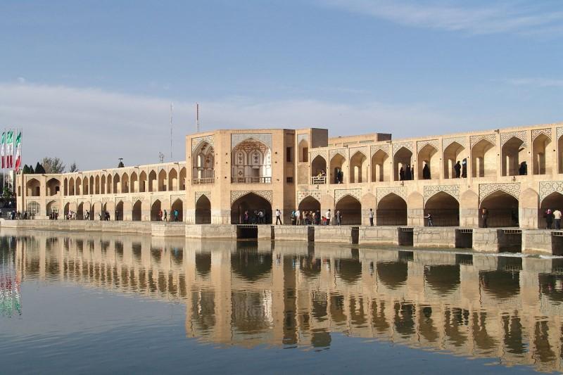 پل خواجوی اصفهان در سال ١٣٠٥+عکس