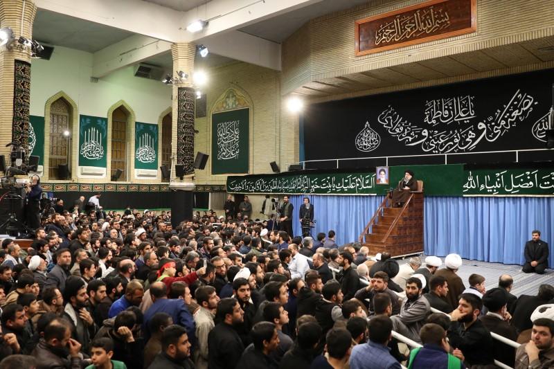رجز خوانی علیه نتانیاهو در حضور رهبر معظم انقلاب اسلامی+فیلم