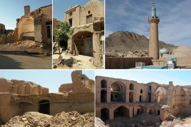 تخریب  تعداد زیادی از بناهای تاریخی یزد پس از بارش باران