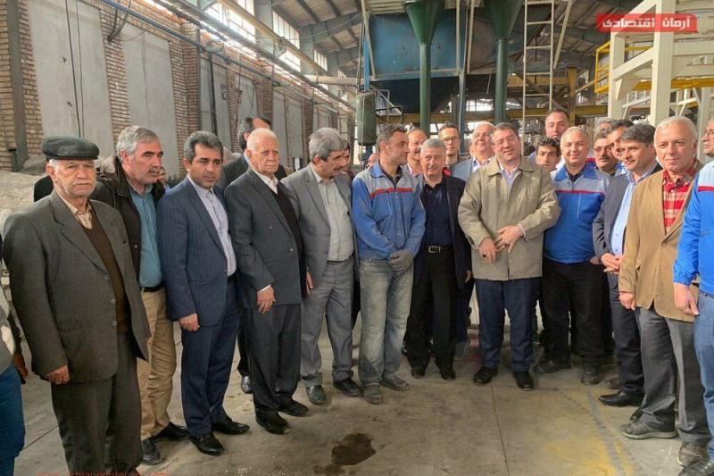 حضور وزیر صنعت و معدن در گلستان