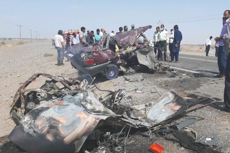 تصادف مرگبار محور ریگان - نرماشیر ۱۴ کشته و مجروح برجای گذاشت