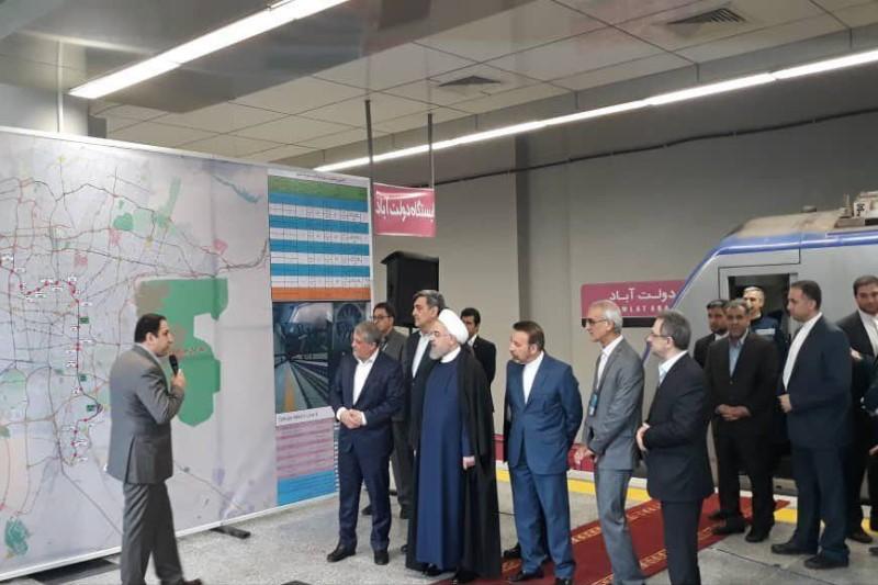 افتتاح فاز اول خط ۶ مترو تهران با حضور رئیس جمهور+نقشه خطوط