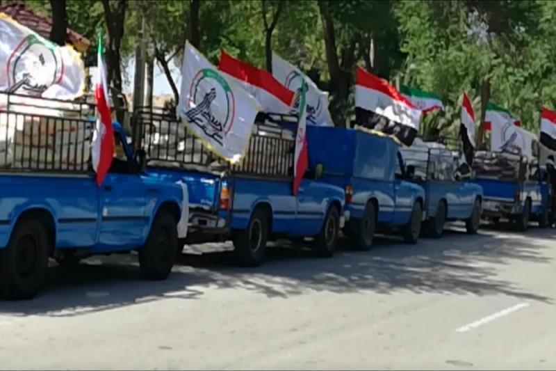 ورود کمکهای مردمی کشور عراق به خوزستان+فیلم