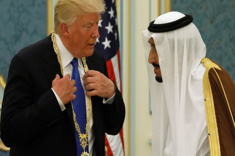 ترامپ محتوای صحبت خود با ملک سلمان  را رسانه ای کرد