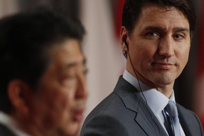 گاف نخستوزیر کانادا در دیدار با همتای ژاپنی خود