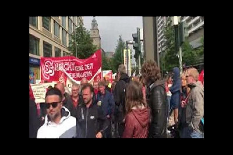اعتراض به سیاستهای دولت آلمان + فیلم